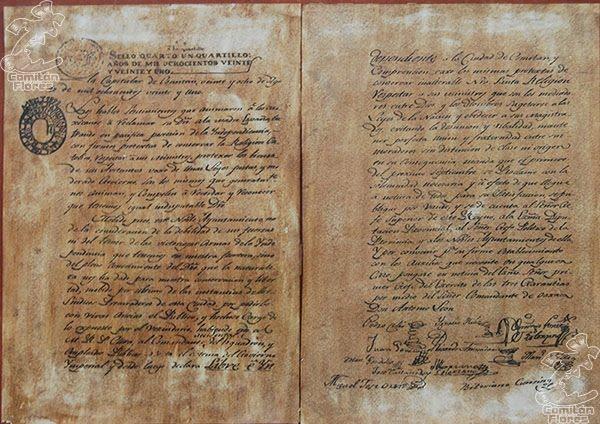 Acta declaratoria de Independencia de Comitán