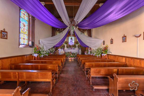 Interior del templo de Jesusito
