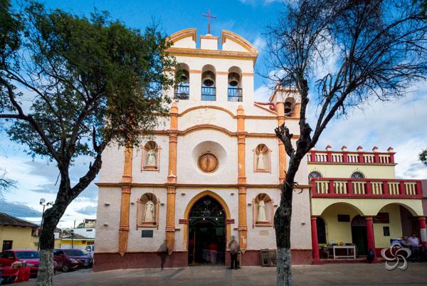 Fachada actual del templo de San Sebastián