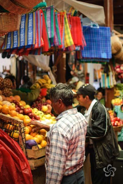 bolsas y frutas