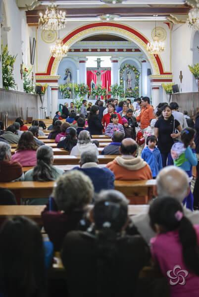 Interior del templo de san sebastián