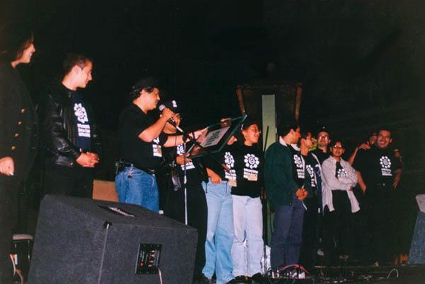 Organizadores del festival.