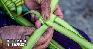 tejiendo palmitas aguacatenango